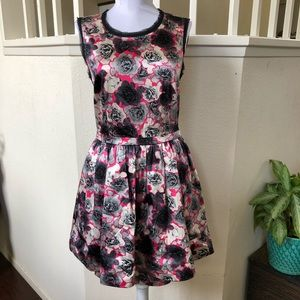 Juicy Couture Pink Floral Dress Sz 6